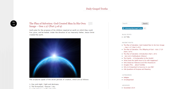 Daily Gospel Truths Blog