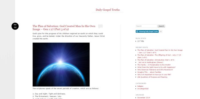 Daily Gospel Truths Blog